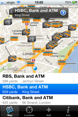 Find Banks and ATMs for Android